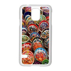 Colorful Oriental Bowls On Local Market In Turkey Samsung Galaxy S5 Case (white) by BangZart