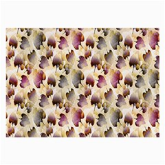 Random Leaves Pattern Background Large Glasses Cloth (2 Side) by BangZart