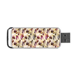 Random Leaves Pattern Background Portable Usb Flash (two Sides) by BangZart