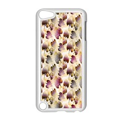 Random Leaves Pattern Background Apple Ipod Touch 5 Case (white) by BangZart
