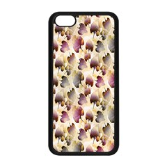 Random Leaves Pattern Background Apple Iphone 5c Seamless Case (black) by BangZart