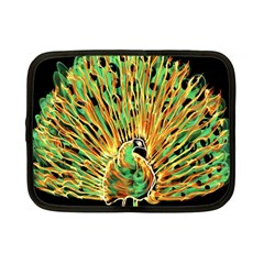 Unusual Peacock Drawn With Flame Lines Netbook Case (small)  by BangZart