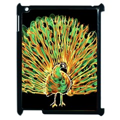 Unusual Peacock Drawn With Flame Lines Apple Ipad 2 Case (black) by BangZart