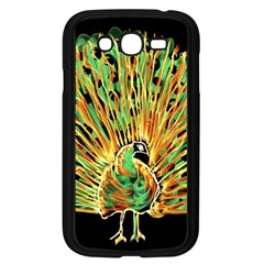 Unusual Peacock Drawn With Flame Lines Samsung Galaxy Grand Duos I9082 Case (black) by BangZart