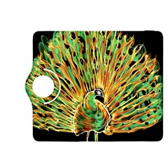 Unusual Peacock Drawn With Flame Lines Kindle Fire Hdx 8 9  Flip 360 Case by BangZart