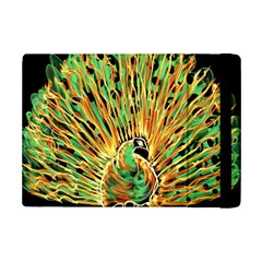 Unusual Peacock Drawn With Flame Lines Ipad Mini 2 Flip Cases by BangZart
