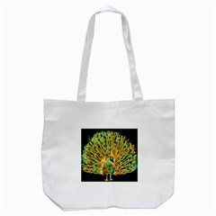 Unusual Peacock Drawn With Flame Lines Tote Bag (white) by BangZart