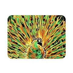 Unusual Peacock Drawn With Flame Lines Double Sided Flano Blanket (mini)  by BangZart