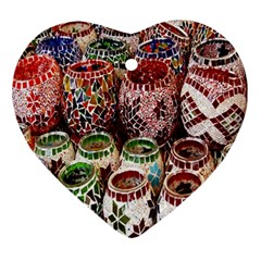 Colorful Oriental Candle Holders For Sale On Local Market Ornament (heart)