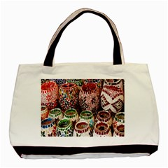 Colorful Oriental Candle Holders For Sale On Local Market Basic Tote Bag by BangZart