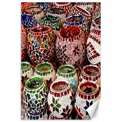 Colorful Oriental Candle Holders For Sale On Local Market Canvas 20  X 30   by BangZart