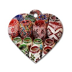 Colorful Oriental Candle Holders For Sale On Local Market Dog Tag Heart (one Side) by BangZart