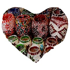Colorful Oriental Candle Holders For Sale On Local Market Large 19  Premium Heart Shape Cushions by BangZart