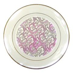Floral Pattern Background Porcelain Plates by BangZart