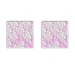 Floral Pattern Background Cufflinks (square) by BangZart
