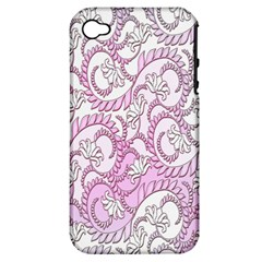 Floral Pattern Background Apple Iphone 4/4s Hardshell Case (pc+silicone) by BangZart