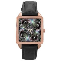 Precious Spiral Rose Gold Leather Watch  by BangZart