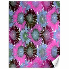 Floral Pattern Background Canvas 18  X 24   by BangZart