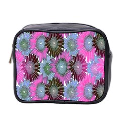 Floral Pattern Background Mini Toiletries Bag 2 Side by BangZart