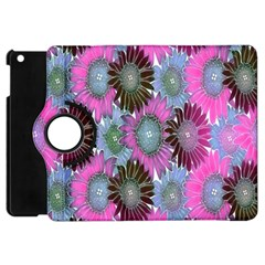 Floral Pattern Background Apple Ipad Mini Flip 360 Case by BangZart
