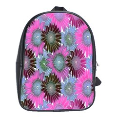 Floral Pattern Background School Bags (xl)  by BangZart