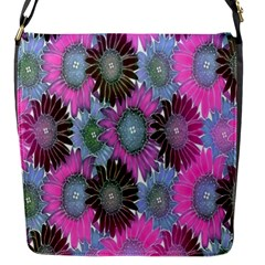 Floral Pattern Background Flap Messenger Bag (s) by BangZart