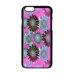 Floral Pattern Background Apple Iphone 6/6s Black Enamel Case by BangZart