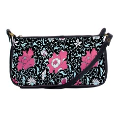 Oriental Style Floral Pattern Background Wallpaper Shoulder Clutch Bags by BangZart