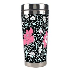 Oriental Style Floral Pattern Background Wallpaper Stainless Steel Travel Tumblers by BangZart