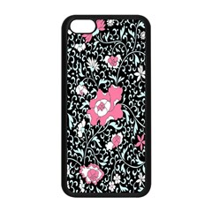 Oriental Style Floral Pattern Background Wallpaper Apple Iphone 5c Seamless Case (black) by BangZart