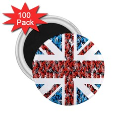 Fun And Unique Illustration Of The Uk Union Jack Flag Made Up Of Cartoon Ladybugs 2 25  Magnets (100 Pack)  by BangZart