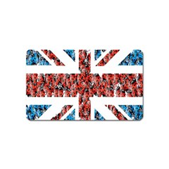 Fun And Unique Illustration Of The Uk Union Jack Flag Made Up Of Cartoon Ladybugs Magnet (name Card) by BangZart