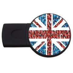 Fun And Unique Illustration Of The Uk Union Jack Flag Made Up Of Cartoon Ladybugs Usb Flash Drive Round (2 Gb) by BangZart