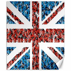 Fun And Unique Illustration Of The Uk Union Jack Flag Made Up Of Cartoon Ladybugs Canvas 8  X 10  by BangZart