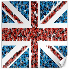 Fun And Unique Illustration Of The Uk Union Jack Flag Made Up Of Cartoon Ladybugs Canvas 20  X 20   by BangZart