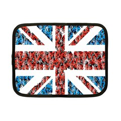 Fun And Unique Illustration Of The Uk Union Jack Flag Made Up Of Cartoon Ladybugs Netbook Case (small)  by BangZart
