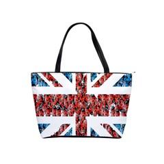 Fun And Unique Illustration Of The Uk Union Jack Flag Made Up Of Cartoon Ladybugs Shoulder Handbags by BangZart