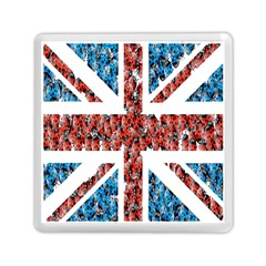 Fun And Unique Illustration Of The Uk Union Jack Flag Made Up Of Cartoon Ladybugs Memory Card Reader (square)  by BangZart