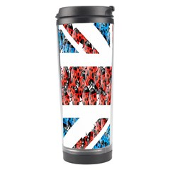 Fun And Unique Illustration Of The Uk Union Jack Flag Made Up Of Cartoon Ladybugs Travel Tumbler by BangZart
