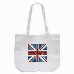 Fun And Unique Illustration Of The Uk Union Jack Flag Made Up Of Cartoon Ladybugs Tote Bag (white) by BangZart