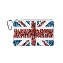 Fun And Unique Illustration Of The Uk Union Jack Flag Made Up Of Cartoon Ladybugs Canvas Cosmetic Bag (s) by BangZart