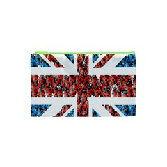 Fun And Unique Illustration Of The Uk Union Jack Flag Made Up Of Cartoon Ladybugs Cosmetic Bag (xs) by BangZart