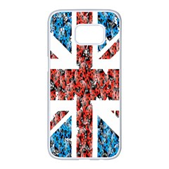 Fun And Unique Illustration Of The Uk Union Jack Flag Made Up Of Cartoon Ladybugs Samsung Galaxy S7 Edge White Seamless Case by BangZart