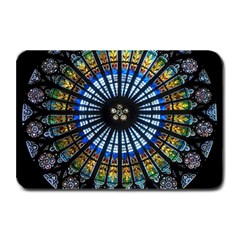Stained Glass Rose Window In France s Strasbourg Cathedral Plate Mats by BangZart
