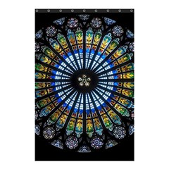 Stained Glass Rose Window In France s Strasbourg Cathedral Shower Curtain 48  X 72  (small)  by BangZart