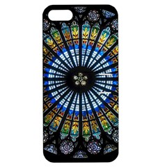 Stained Glass Rose Window In France s Strasbourg Cathedral Apple Iphone 5 Hardshell Case With Stand by BangZart