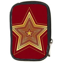 Christmas Star Seamless Pattern Compact Camera Cases by BangZart