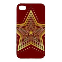 Christmas Star Seamless Pattern Apple Iphone 4/4s Premium Hardshell Case by BangZart