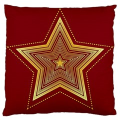 Christmas Star Seamless Pattern Large Cushion Case (two Sides) by BangZart