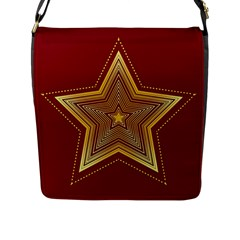 Christmas Star Seamless Pattern Flap Messenger Bag (l)  by BangZart